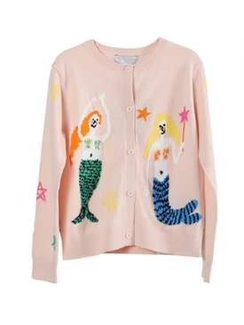 Stella Mccartney - Kids Pink Mermaid And Stars Cardigan - Kids