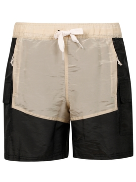X Rhuigi X Kuzma Shorts Black and Oatmeal