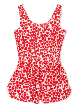 Kids Heart Print Jumpsuit