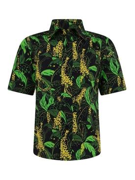 Kids Palm and Leopard Print Shirt