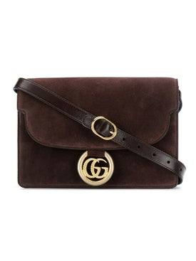 Gucci - Brown Suede Gg Ring Bag - Women
