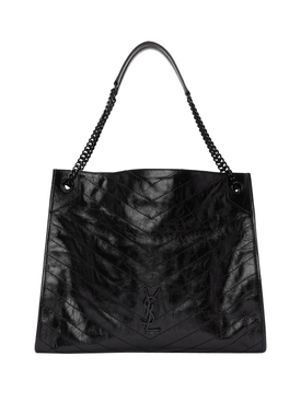 Black shopping tote