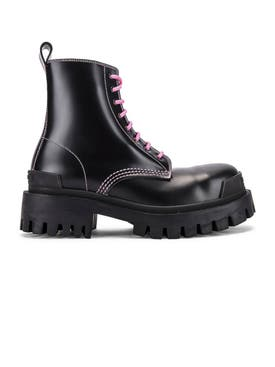 Balenciaga - Black Leather Strike Boot - Women