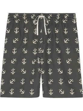 Gucci - Anchor Print Shorts - Men