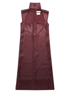 Bottega Veneta - Embellished Cut-out Dress Purple - Women