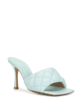 rubber sole stretch mule