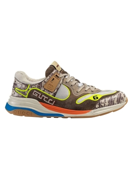 Ultrapace paneled sneaker BROWN