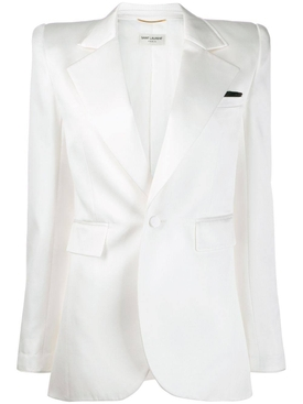 Off-white structured blazer