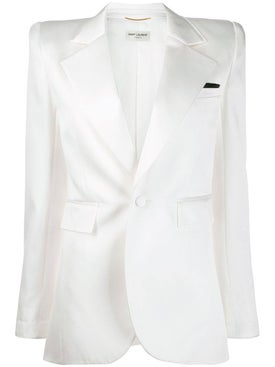 Saint Laurent - Off-white Structured Blazer - Women