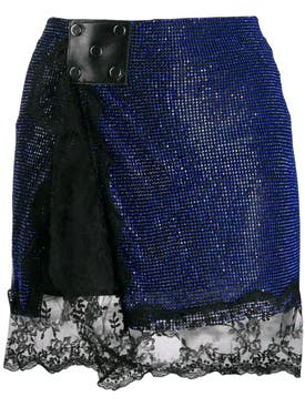 Christopher Kane - Crystal Mesh Mini Skirt - Women