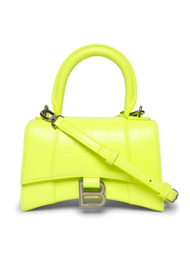Small Hourglass Handbag fluorescent yellow