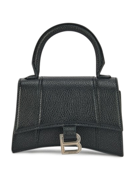 Hourglass Top Handle Bag, Black