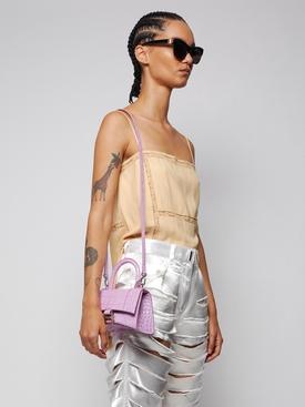 Small Hourglass top handle bag, lilac LILAC