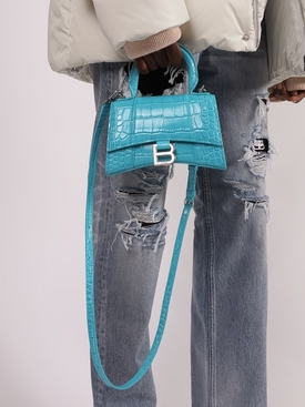 Hourglass top-handle bag TURQUOISE