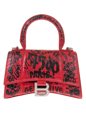 Hourglass Small Bag BRIGHT RED AND BLACK
