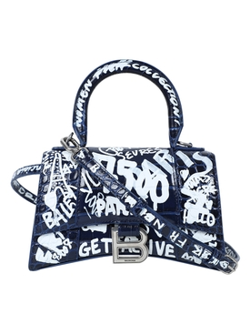 Hourglass Small Bag NAVY AND WHITE
