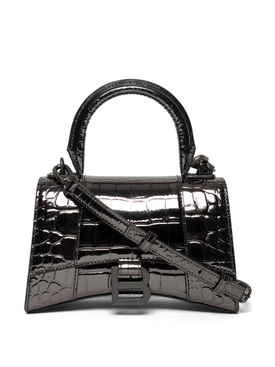 XS Hourglass Top Handle Bag Gun Metal