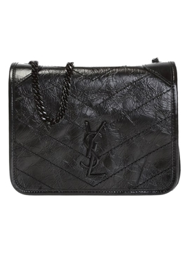 Black Niki Chain Wallet Bag