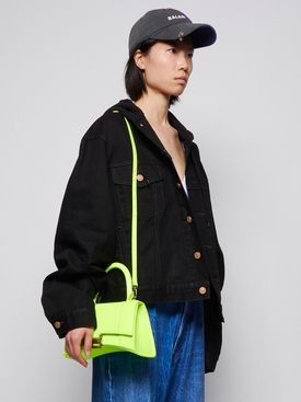 Small Hourglass Top Handle Bag Fluorescent Yellow