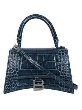Denim Blue Hourglass Small Top Handle Bag