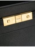 Saint Laurent - Nano Manhattan Bag Black Embossed Leather - Women