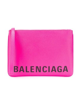 Balenciaga - Cash Handle Pouch Acid Pink - Clutches