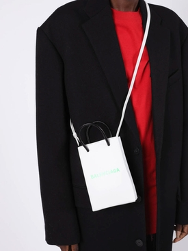 phone crossbody handbag WHITE & LIGHT GREEN