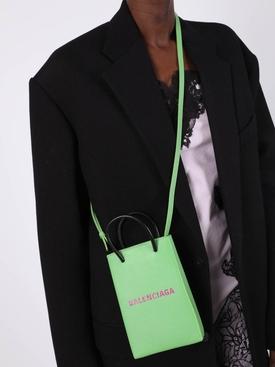 phone crossbody handbag LIGHT GREEN & FUCHSIA
