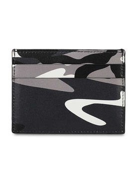 Multi-tonal camouflage card holder, grey