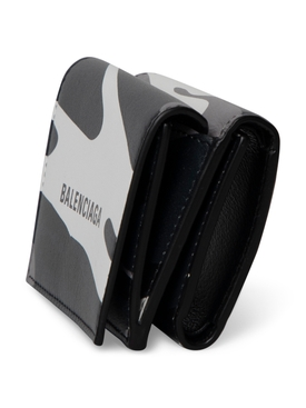 Grey Camouflage print wallet