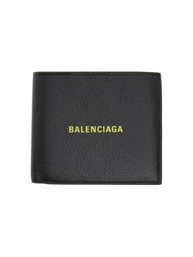 Black and neon green logo wallet