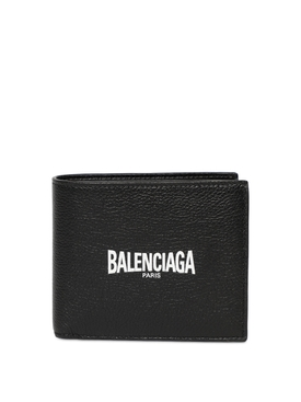 Classic leather bi-fold wallet black