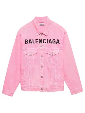Balenciaga - Pink Logo Denim Jacket - Women