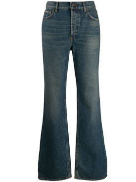Balenciaga - Blue High-waisted Flared Jeans - Women