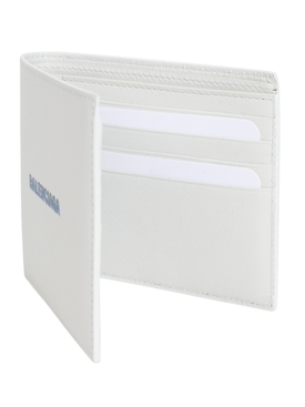 White and Blue Logo Wallet