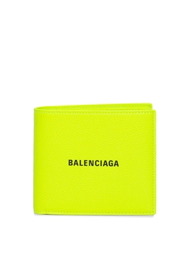 CASH SQUARE FOLD WALLET FLUORESCENT YELLOW