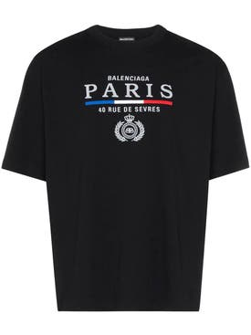 Balenciaga - Paris Emblem Logo T-shirt Black - Men