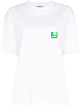 White and green logo T-shirt