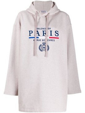 Balenciaga - Neutral Paris Logo Hoodie - Women