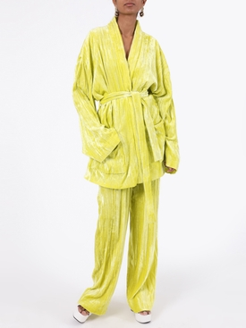 Citrus yellow pajama jacket