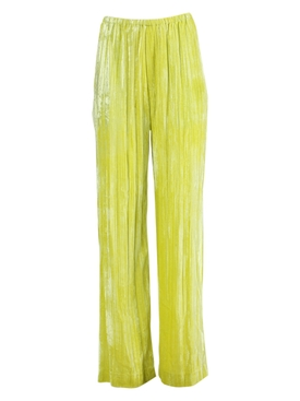 Crushed velvet pants CITRUS YELLOW