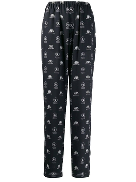 Black and white pajama suit pants