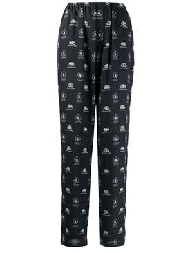 Balenciaga - Black And White Pajama Suit Pants - Women