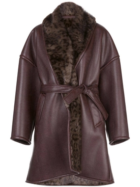 Brown cocoon coat