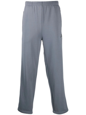 Grey side panel track pants
