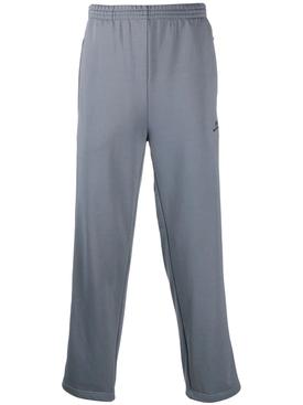 Grey side panel track pants