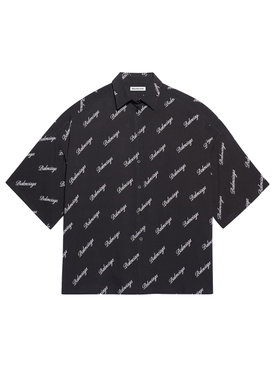 Black & White Cursive Logo Shirt