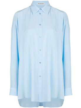 Balenciaga - Light Blue Silk Shirt - Women
