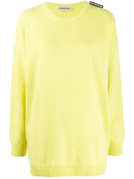 Yellow over-sized crewneck sweater