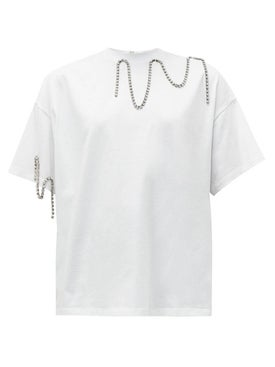 Christopher Kane - Embellished White T-shirt - Women